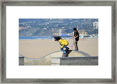 Skateboard Mentor Framed Print by Fraida Gutovich