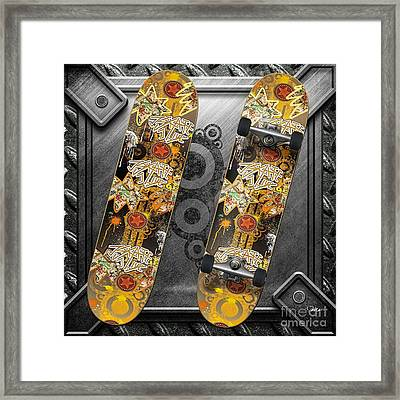 Skateboard Framed Print by Mo T