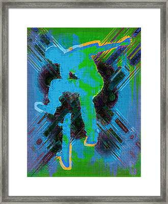 Skateboarder Abstract Framed Print by David G Paul