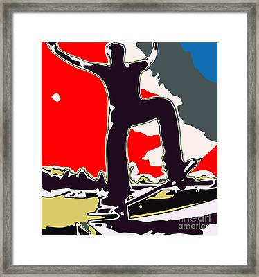 Skateboarder Framed Print by Chris Butler