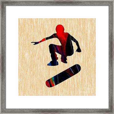 Skateboarder Painting Framed Print by Marvin Blaine