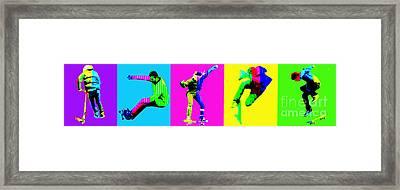 Skateboarders Framed Print by Michelle Orai