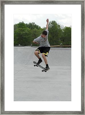 Skateboarding 1 Framed Print by Joyce StJames