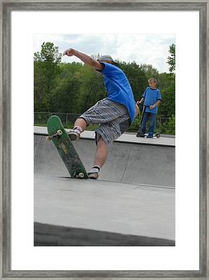 Skateboarding 11 Framed Print by Joyce StJames