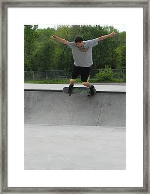 Skateboarding 13 Framed Print by Joyce StJames