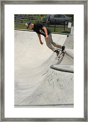 Skateboarding 14 Framed Print by Joyce StJames