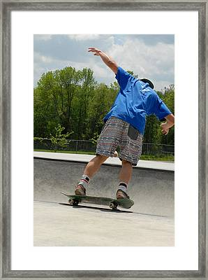 Skateboarding 15 Framed Print by Joyce StJames
