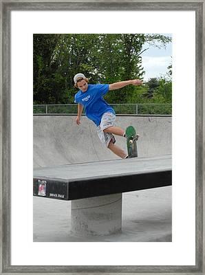 Skateboarding 2 Framed Print by Joyce StJames