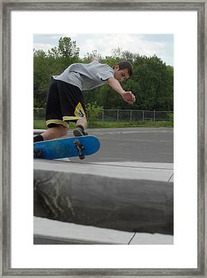 Skateboarding 3 Framed Print by Joyce StJames