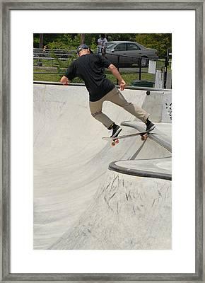 Skateboarding 5 Framed Print by Joyce StJames