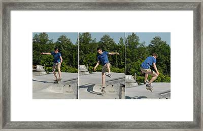 Skateboarding 8 Framed Print by Joyce StJames