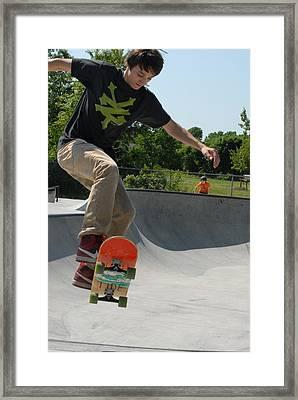 Skateboarding 9 Framed Print by Joyce StJames