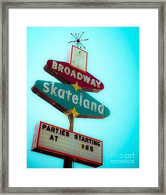 Skateland Framed Print by Sonja Quintero
