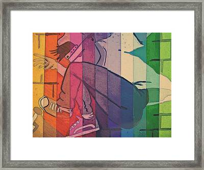 Skater Boy Framed Print by Kiara Reynolds
