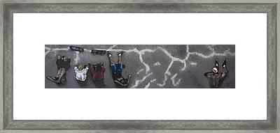 Skater Boys Framed Print by Cristel Mol-Dellepoort