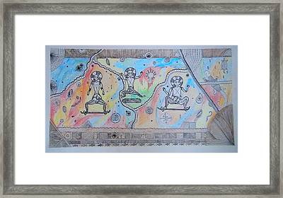 Skaters From The Past Framed Print by Domantas Cibas