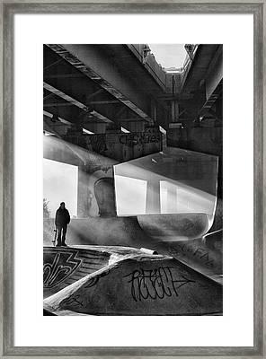Skaters Light Framed Print