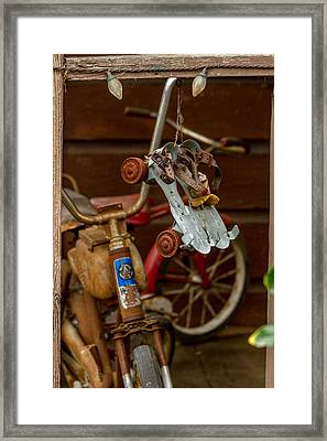 Skates And Bikes Framed Print by Bill Gallagher