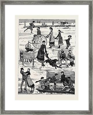 Skating 1. Faith, Hope, And Charity 2. Stimulated Framed Print