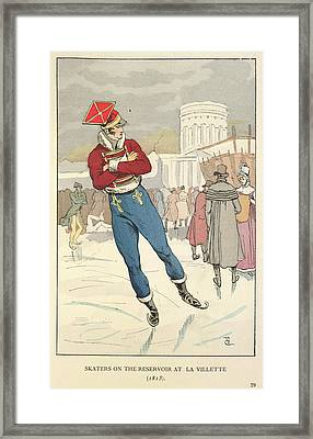 Skating At La Villete Framed Print