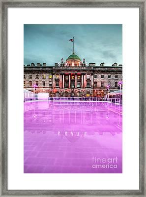 Skating At Somerset House Framed Print by Jasna Buncic