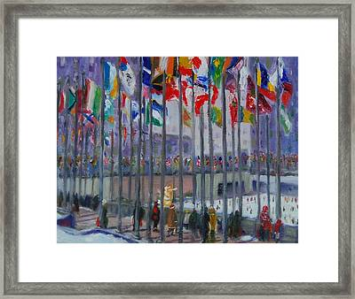 Skating At The Center Framed Print by Will Germino