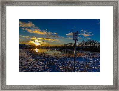 Skating Away On The Thin Ice Of A New Day Framed Print by Randy Scherkenbach