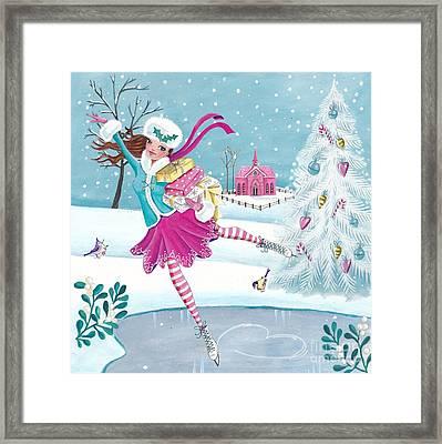 Skating Girl Framed Print