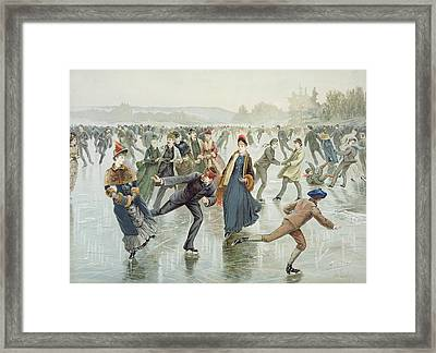 Skating Framed Print by Harry Sandham
