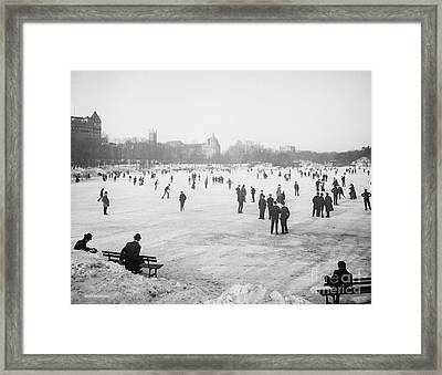 Skating In Central Park Framed Print