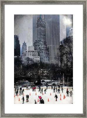 Skating In Gotham Framed Print by Chris Lord