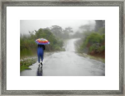 Skc 0701 Miles To Go  Framed Print by Sunil Kapadia