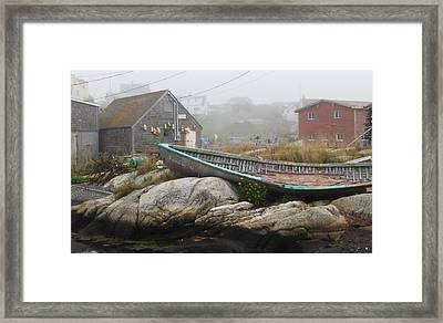 Framed Print featuring the photograph Skeleton Ashore by Jennifer Wheatley Wolf