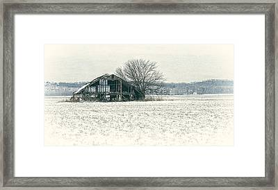 Skeleton Barn Framed Print