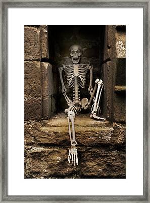 Skeleton Framed Print by Amanda Elwell