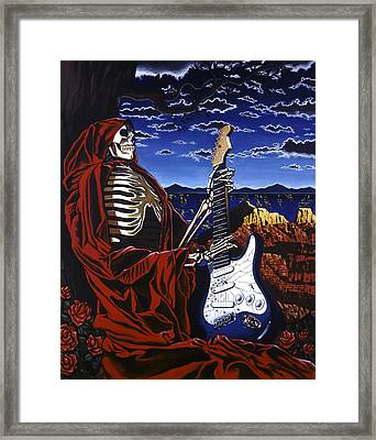 Skeleton Dream Framed Print by Gary Kroman