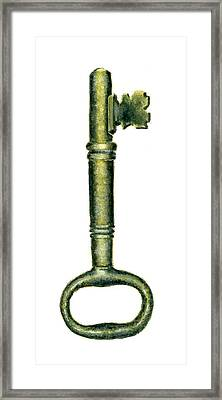 Skeleton Key Number 1 Framed Print by Michael Vigliotti