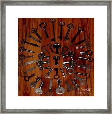 Skeleton Keys To The Past Framed Print by Gail Matthews