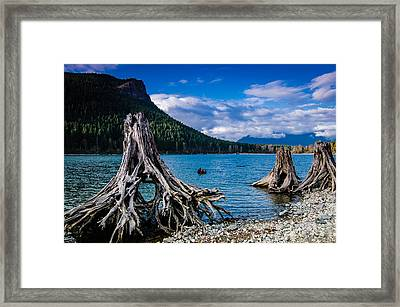 Skeletons Of The Past Framed Print by Brian Xavier