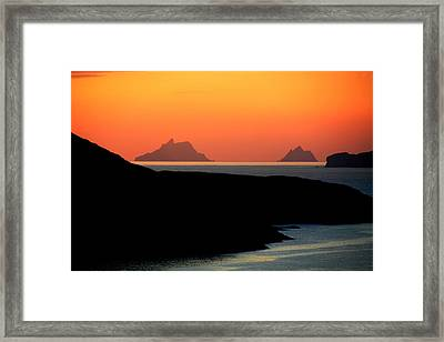 Skellig Islands  Framed Print