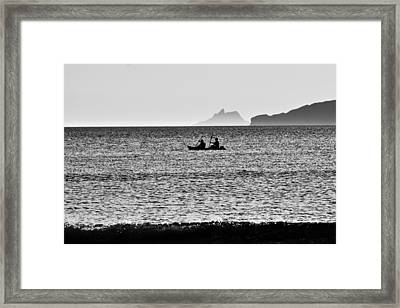 Skellig Islands Boatmen Framed Print