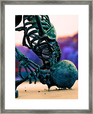 Skelton  Framed Print by Jon Baldwin  Art