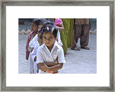 Skeptical Child Framed Print by Russell Smidt