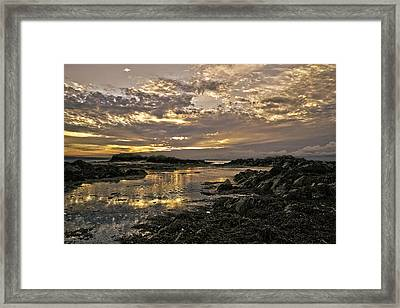 Skerries Sunset Framed Print by Martina Fagan