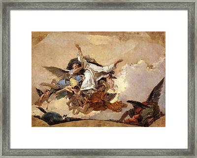 Sketch For The Glory Of Saint Dominic Framed Print by Giovanni Battista Tiepolo