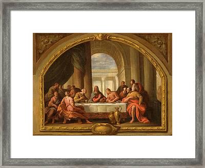 Sketch For The Last Supper Framed Print