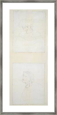 Sketch Of A Maori Woman Framed Print by British Library