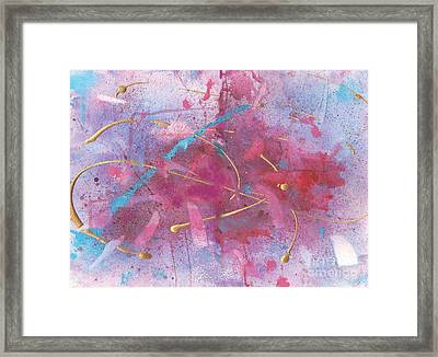 Sketchbook Explosion Framed Print by Ellen Howell