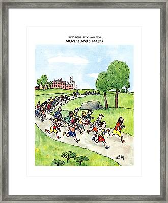 Sketchbook Movers And Shakers Framed Print by William Steig