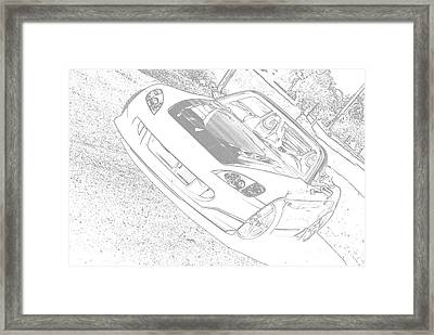 Sketched S2000 Framed Print